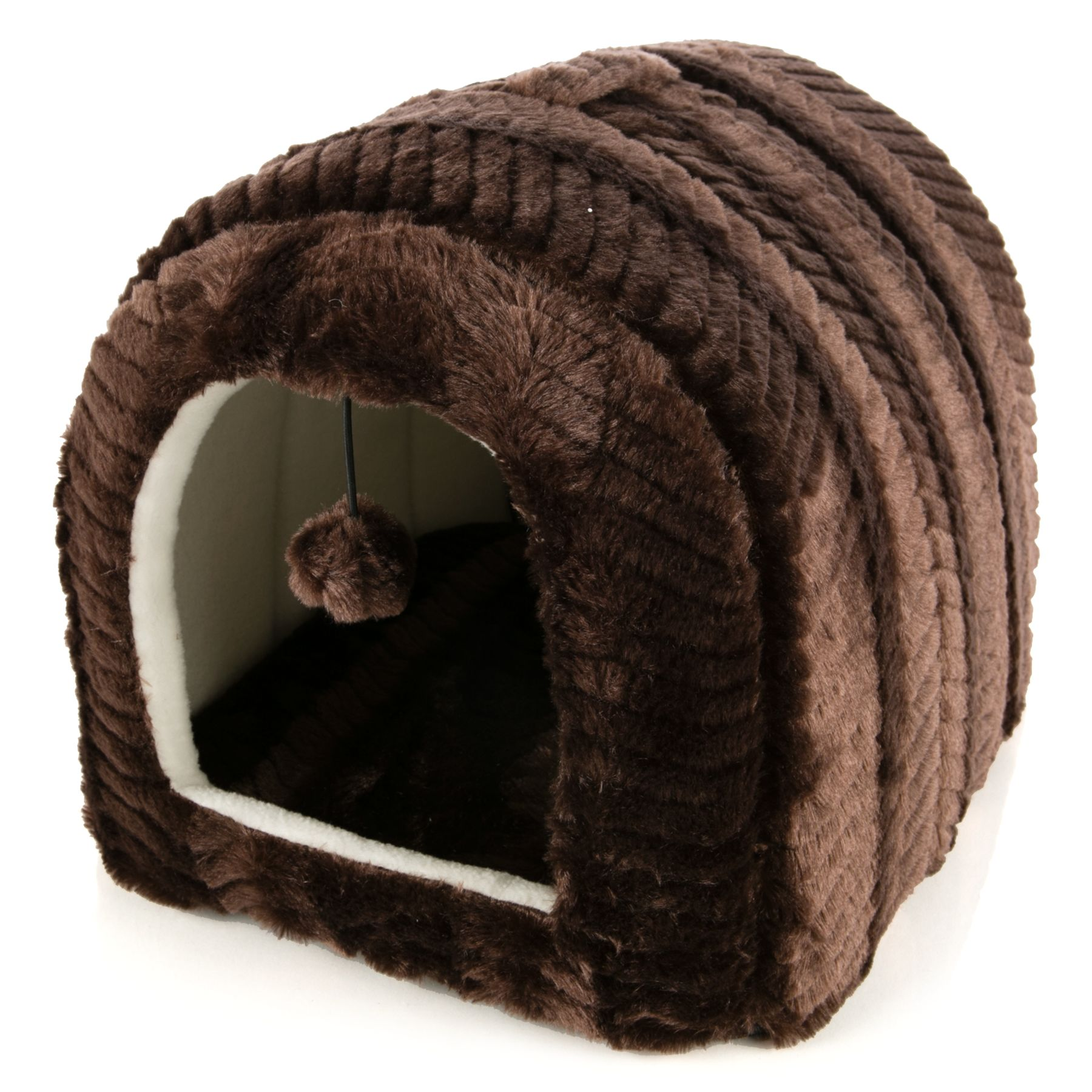 Whisker City Cat Bed Hut Cat Covered Beds PetSmart