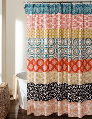 Lush Decor Bohemian Print Shower Curtain Stage Stores