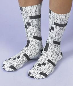 Crossword Puzzle Socks   A Pair   Hosiery and Footwear   Clothing     Crossword Puzzle Socks   A Pair