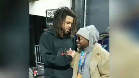 J Cole And Anthony Hamilton Perform At NBA All-Star Game