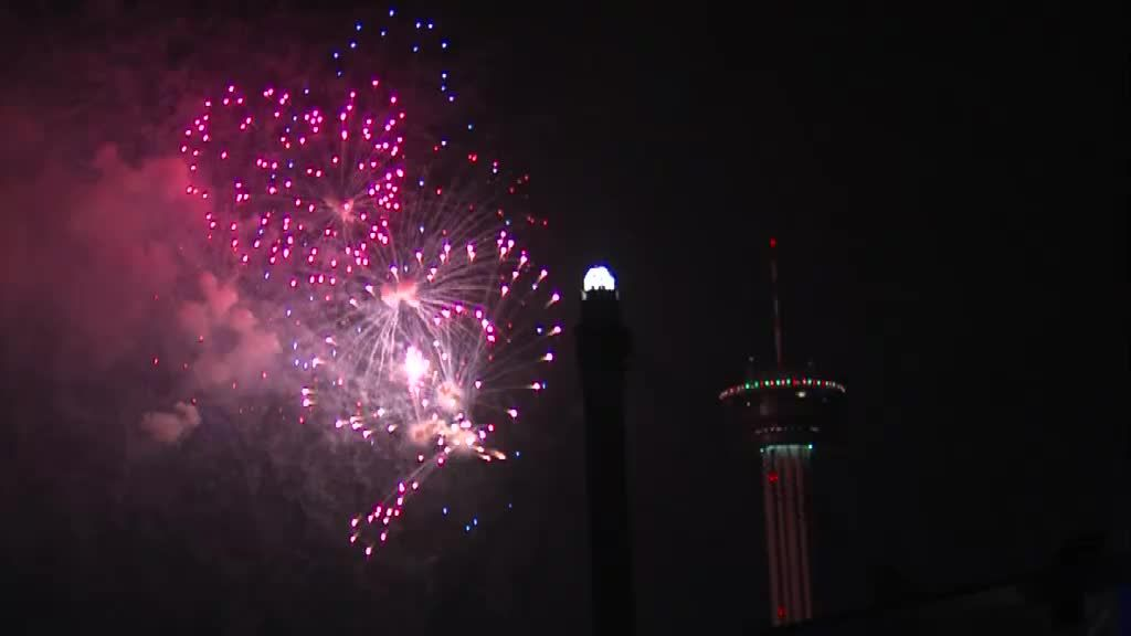 San Antonio Celebrating NYE At Hemisfair Park