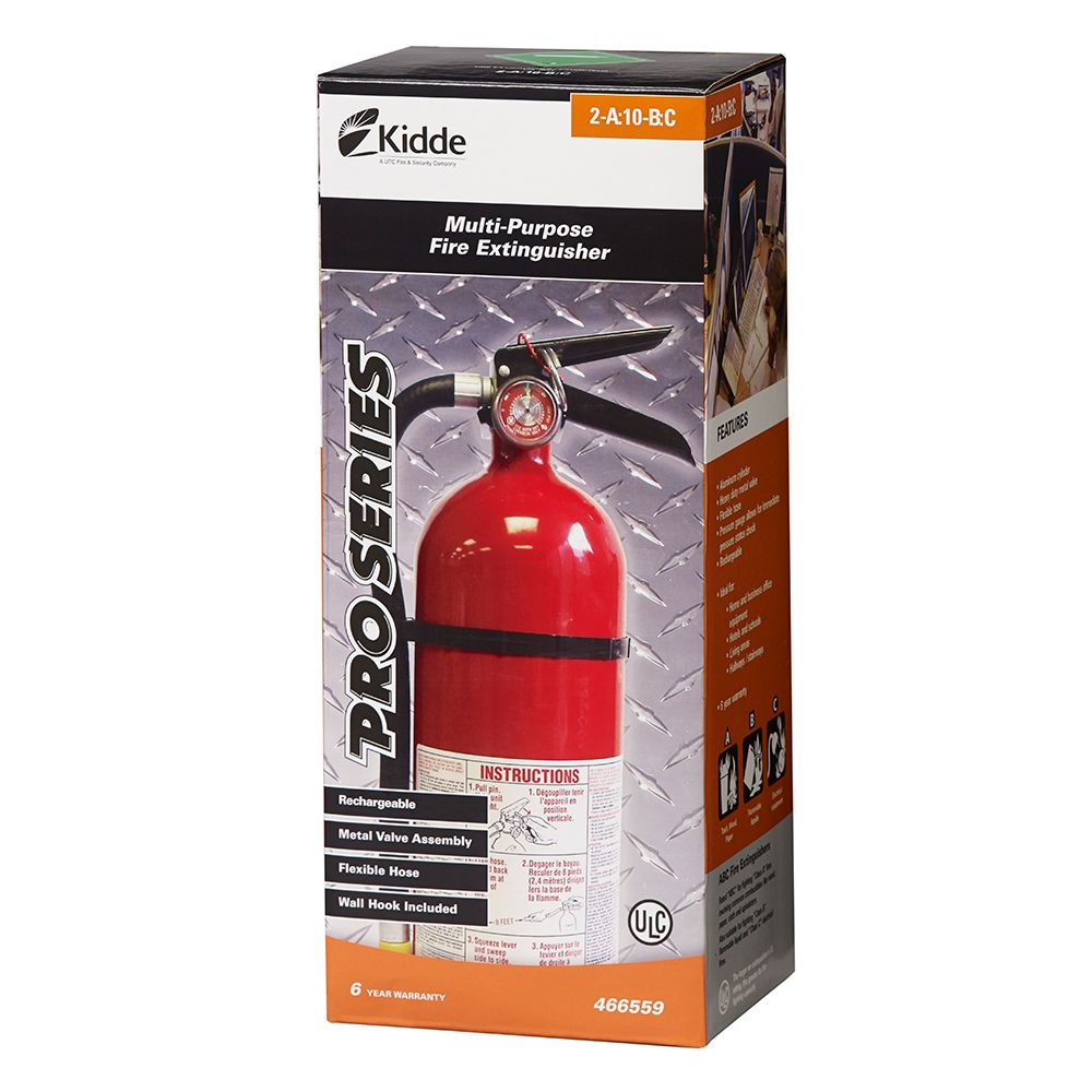 Kidde 2a 10bc Pro Series Rechargeable Red Fire