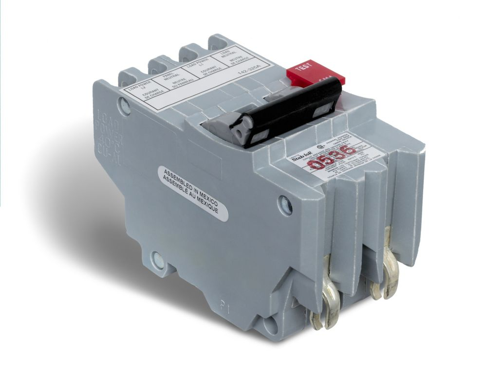 Schneider Electric Double Pole 40 Amp Stab-lok Plug-On GFI