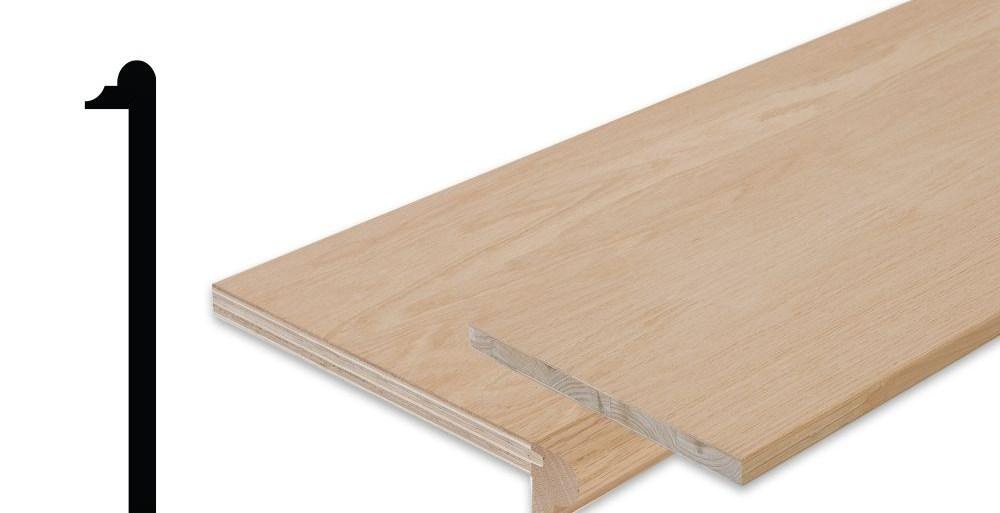 Simpletread Oak Stair Tread Cap And Riser Kit 10 1 8 In X | 42 Inch Oak Stair Treads