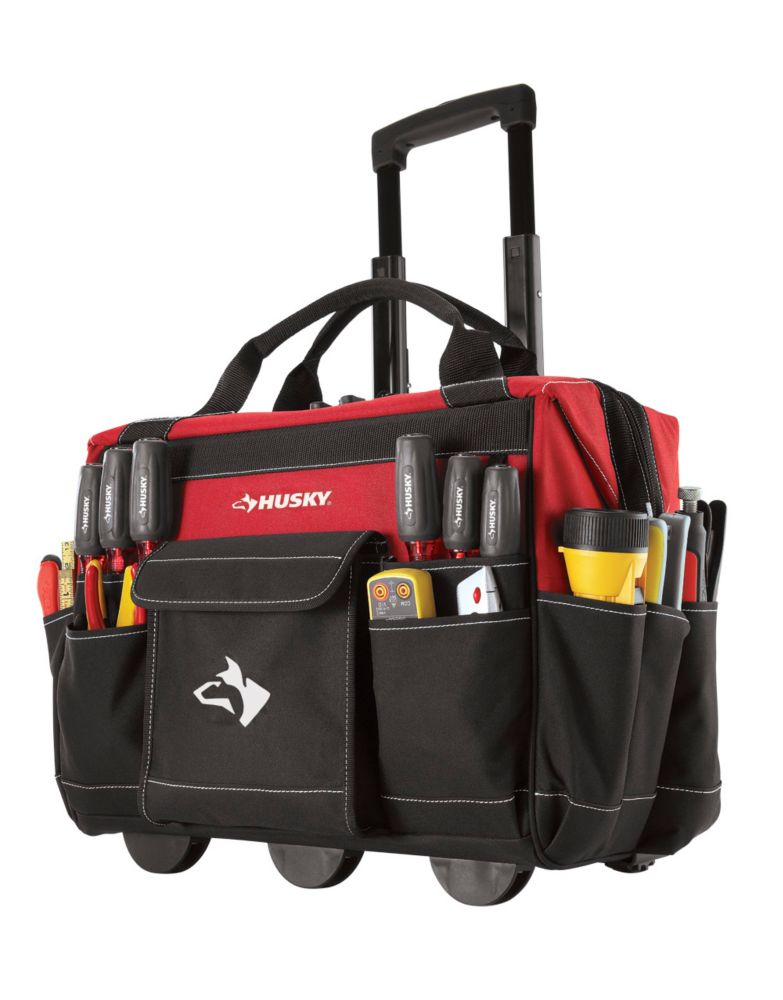 HUSKY 18 Inch Rolling Tool Tote The Home Depot Canada