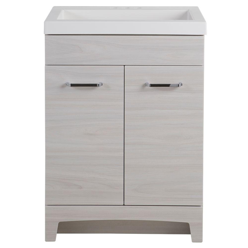 meuble lavabo stancliff dessus en faux marbre et miroir 24 1 2