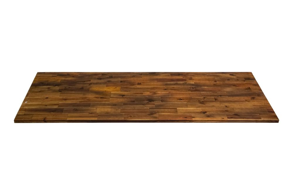 Interbuild  Inch X   Inch X   Inch Acacia Wood Kitchen Countertop Brown