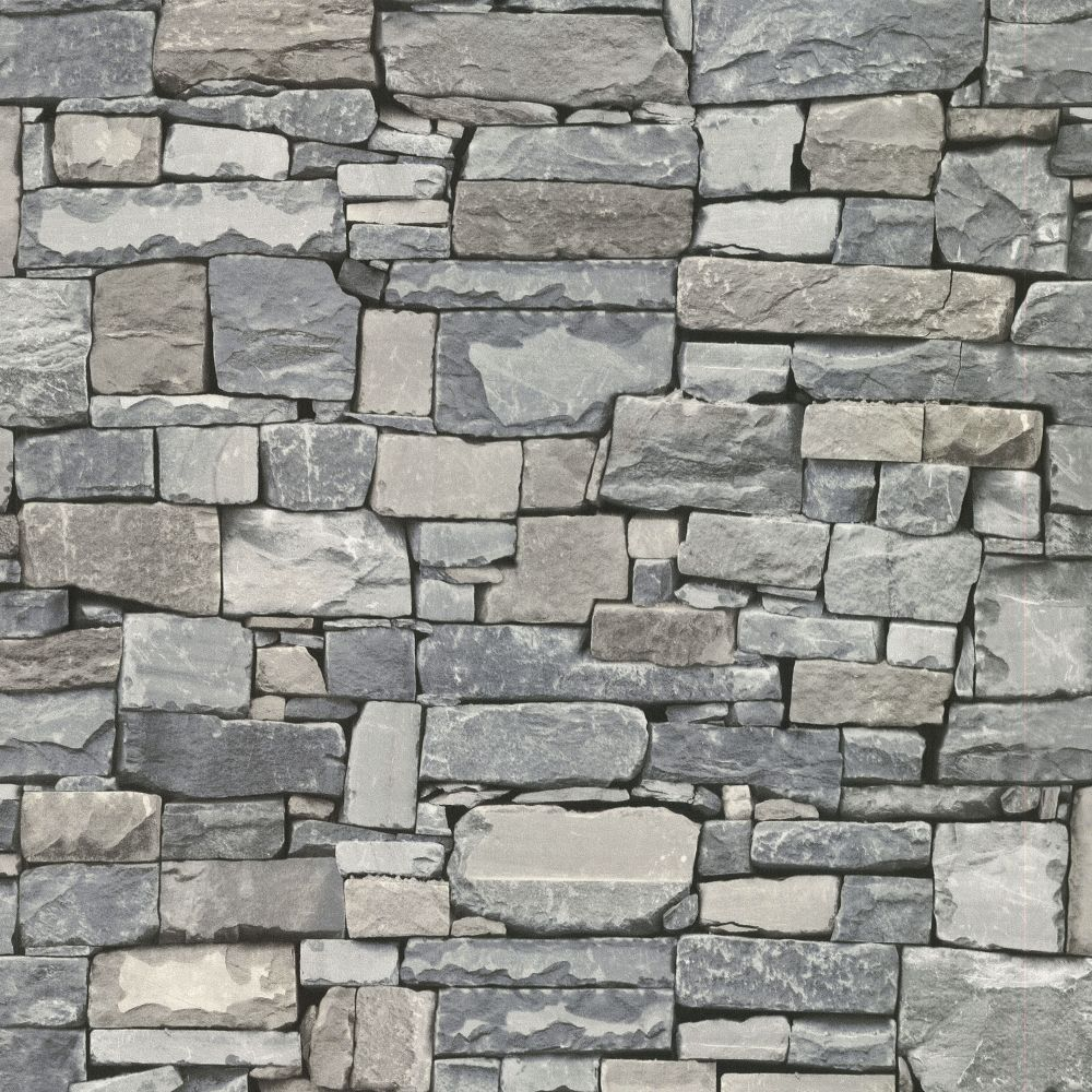 Advantage Wrangell Grey Stacked Slate Wallpaper The Home Depot Canada