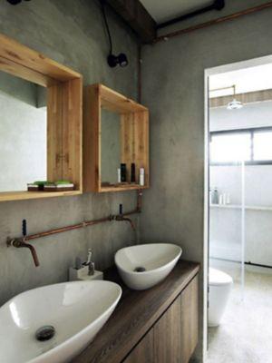 Une Salle De Bains Entre Style Vintage Et Atelier Industriel
