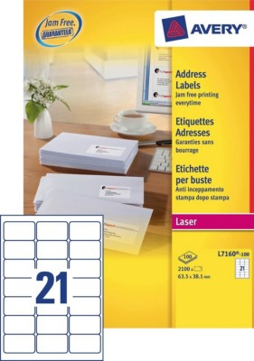 address labels l7160 100 avery