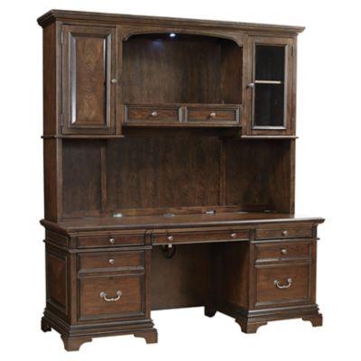 Aspenhome Essex 75 Inch Credenza Desk With Hutch