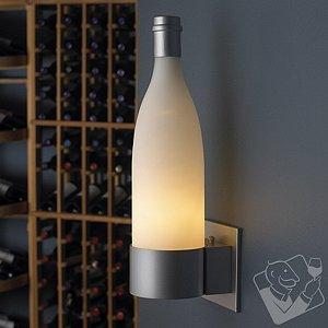 Wine Bottle Wall Sconce