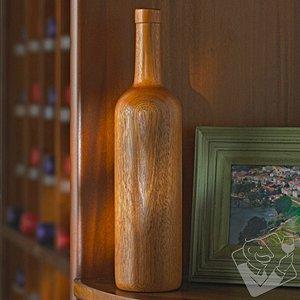 Wooden Wine Bottle Bordeaux (Finished)