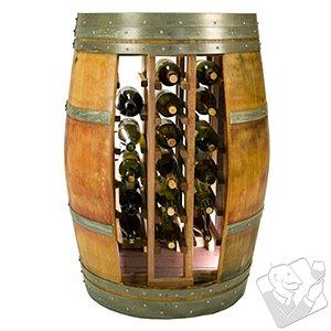 Reclaimed Whole Wine Barrel 28 Bottle Wine Rack
