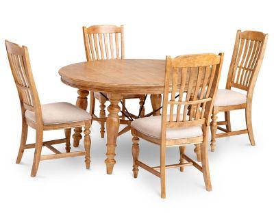 Lake House 5 Pc Round Dining Room Set Furniture Row
