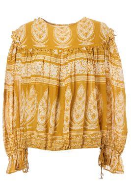 Vintage Bluse Embroidery Stickerei Boho Blouse Peasant Folklore
