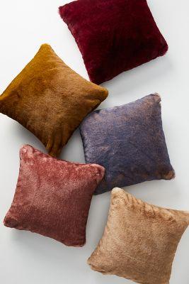navy fur pillow online