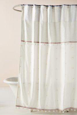 rayas duschvorhang mit quasten