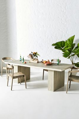 concrete indoor outdoor dining table