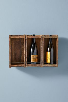recycled brick mold wine rack