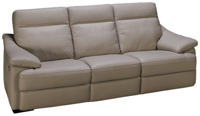 natuzzi editions giotto leather power sofa recliner with tilt headrest and lumbar