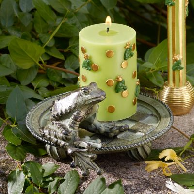 MacKenzie Childs Frog Candle Plate