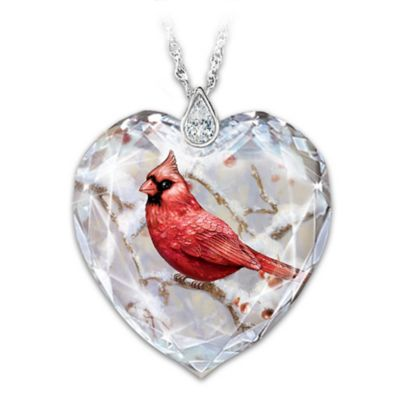 Messenger From Heaven Womens Cardinal Pendant Necklace