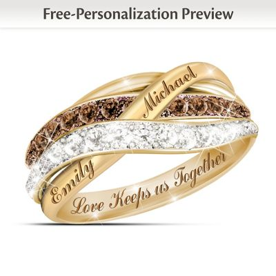 Together In Love Personalized Mocha And White Diamonds