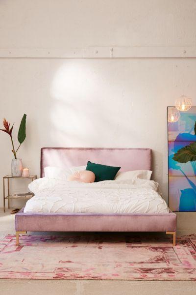 Rosalie Velvet Platform Bed Urban Outfitters
