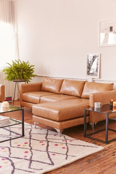 chamberlin recycled leather sectional sofa