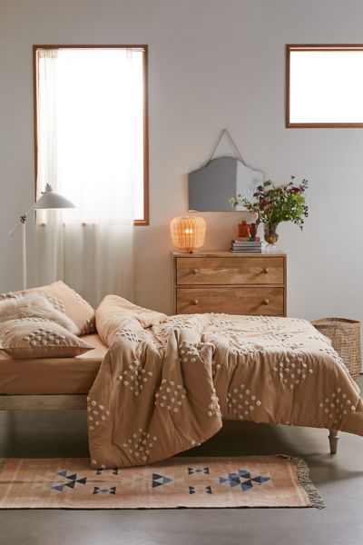 Geo Tufted Comforter Snooze Set Urban Outfitters
