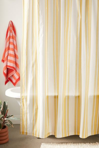 ina striped shower curtain