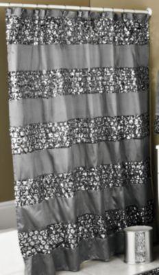 sinatra shower curtain silver