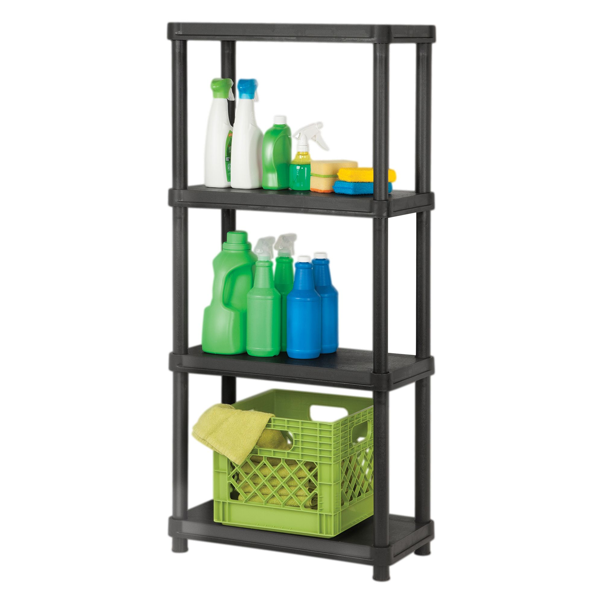 Organize It 4 Tier 12 X 24 Resin Shelving System