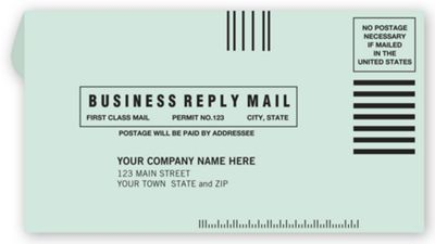 6 3 4 Business Reply Envelope
