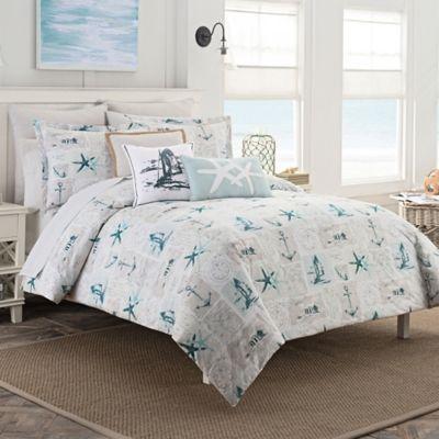 Coastal Life Nantucket Duvet Cover Set Bed Bath Amp Beyond