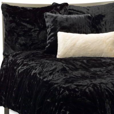 Faux Fur Panther Duvet Cover Set Black Bed Bath Amp Beyond