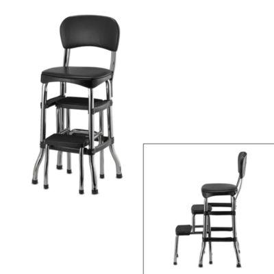 Swell Black Step Stool Chair Bonat Ullman Convertable Hair Dryer Spiritservingveterans Wood Chair Design Ideas Spiritservingveteransorg