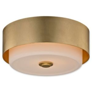 Buy Gold Ceiling Lights from Bed Bath   Beyond Troy Lighting Allure 2 Light Flush Ceiling Light in Gold Leaf with Round  Shade