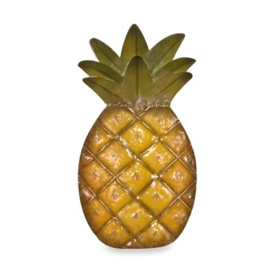 Pineapple Metal Wall Art Bed Bath Amp Beyond