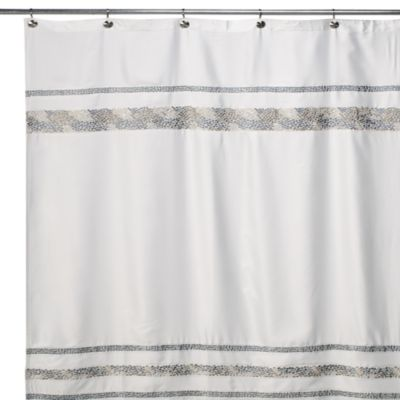 Croscill Spa Tile 54 Inch X 78 Inch Fabric Shower Curtain Bed Bath Amp Beyond