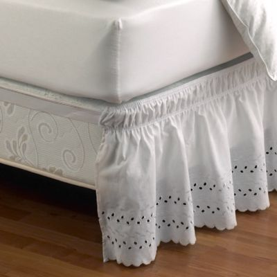 Buy Ruffled Eyelet TwinFull Bed Skirt In White From Bed