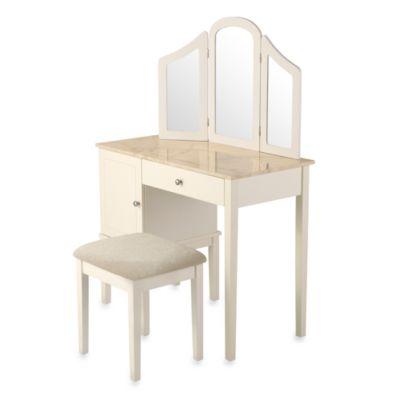 Linon Home Darlington Vanity And Bench Set Bed Bath Amp Beyond