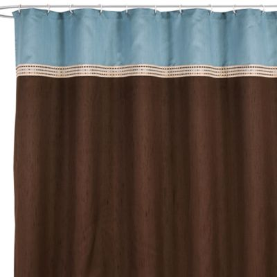 Buy Brown Blue Shower Curtain From Bed Bath Amp Beyond