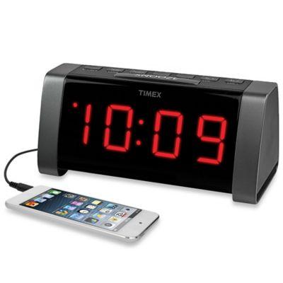 Timex AMFM Jumbo Display Dual Alarm Clock Radio In Black