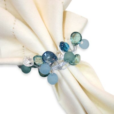 Coastal Sparkle Napkin Ring Bed Bath Amp Beyond