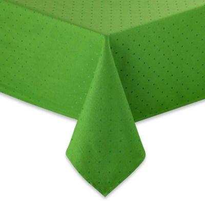 Kate Spade New York Larabee Dot Tablecloth In Picnic Green