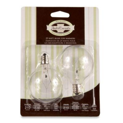 Full Size Wax Warmer 25 Watt Replacement Bulbs Set Of 2