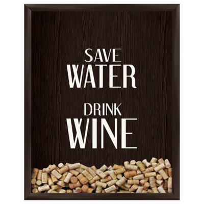 Save Water Drink Wine Graphic Shadow Box Bed Bath Amp Beyond
