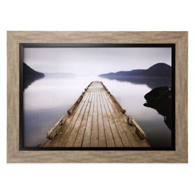 Wood Pier Framed Wall Art Bed Bath Amp Beyond